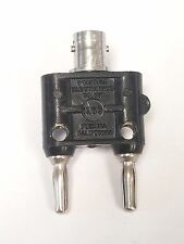 Pomona 1269 Double Banana Plug to BNC Coaxial Adapter