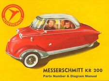 MESSERSCHMITT KR200 KR201 KR 200 201 PARTS MANUALS - 85pg for Service & Repair