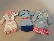 3 Barbie Diner Cafe Coffee Shop Diorama Waitress Uniforms Dresses Clothes