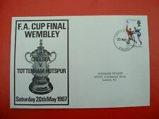 FA CUP FINAL WEMBLEY 1967 FIRST DAY COVER CHELSEA V TOTTENHAM HOTSPUR SAT 20 MAY