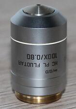 Leica Mikroskop Microscope Objektiv HC PL FLUOTAR 100x/0,80 (Leica Nr.: 101147)