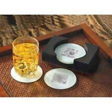 PHOTO COASTER SET Picture Frame Glass & Wood Coasters - Gift Mom Friend