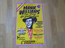 Hank WILLIAMS the Show he Never Made CRITERION Theatre Original Poster