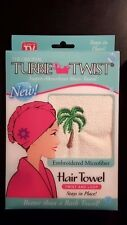 The Original Turbie Twist~ Embroidered Microfiber~ Palm Tree- Free Shipping