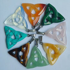 fashion natural stone mixed hollow triangle charms pendants 8pcs/lot Wholesale