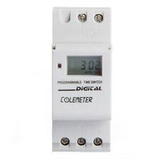 DIN Rail Digital LCD Programmable Weekly Timer AC 250V 16A Time Relay Switch
