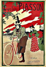 Art Ad Cycles Plasson   Bike Bicycle  Deco Poster Print