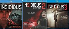 INSIDIOUS 1 + CHAPTER 2 + CHAPTER 3 New Sealed Blu-ray