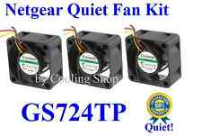 Quiet! Netgear GS724TP Fan Set (3xFans) Sunon only 18dBA Noise Best for HmNetwk