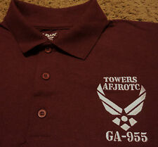 NEW Mens TOWERS AFJROTC GA-955 Officer Training Corps US Air Force Polo Shirt