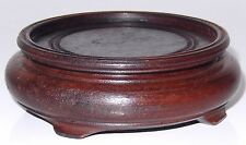 Chinese Carved Hard Wood Stand Table Display VINTAGE Hong Kong -no2