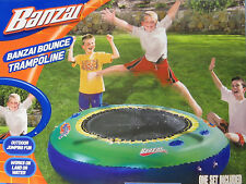 "Inflatable Banzai Bounce Water Backyard Trampoline! 72"" Portable Lakes Pool Land"