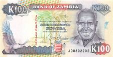 Zambia 100 Kwacha 1991 Unc Pn 34a