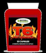 T6 VERY STRONG FAT BURNERS WEIGHT LOSS DIET PILLS SLIMMING SAFE & LEGAL 30 CAPS