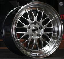 """18"""" ESR SR05 Hyersilver Wheels For 350Z 370Z 18x9.5 +22 / 18x10.5 +22 Rims Set 4"""