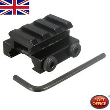"Tactical 1/2"" 3 Slot Low Riser WEAVER PICATINNY Base/Scope Mount 20mm Rail UK"