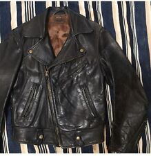 Rare! 1950s Taubers of California Horsehide Leather Motorcycle Jacket Size 36/38