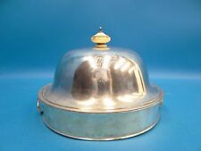 Vintage Metal Silverplate Crown EN Bonne Foy Heated Cooled Serving Tray Platter