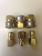 """3 Sets 3/8"""" Quick Connect Fittings for Pressure Washer Hose-New- Top Quality"""