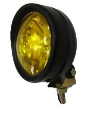 FOG LIGHTS FOR ROYAL ENFIELD MATT BLACK BODY FINISH YELLOW GLASS 85 MM