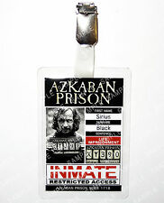 Sirius Black Azkaban Prison ID Badge Harry Potter Hogwarts Cosplay Halloween