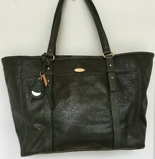 Large Dark Green Leather Tote Shoulder Bag Purse TAHARI