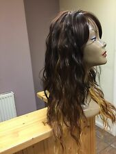Ladies Synthetic  Full  Wig Brown colour WEAVE CAP Long Colour  GM236