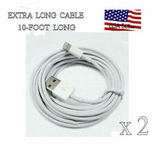 EXTRA LONG 8 Pin to USB Cable Charger Cord iPhone 5 5G      ~ LOT 2