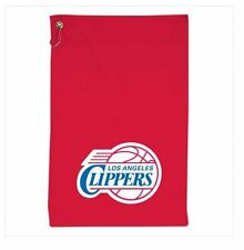 """LOS ANGELES CLIPPERS 16"""" x 25"""" RED LOGO SPORTS, GOLF TOWEL W/GROMMET & BAG HOOK"""