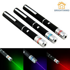 3PCS Powerful Laser Pointer Green+Red+Purple 5mW Laser Pen