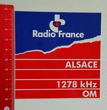 ADESIVI/Sticker: radio France Alsace 1278 khz OM (15081645)