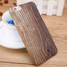 Hard PC Slim Wood Bamboo Texture Matte Case Cover For Samsung & IPhone 5 6S Plus