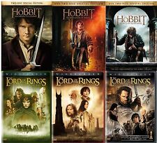 The Hobbit Trilogy + The Lord Of The Rings Trilogy (6 Movie Set, WS) NEW