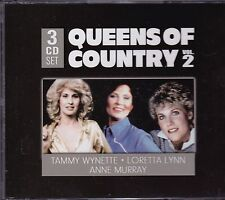 QUEENS OF COUNTRY VOL. 2 - TAMMY WYNETTE - LORETTA LYNN - ANNE MURRAY on 3 CD's