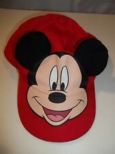 Disney Mickey Mouse Baseball Cap Hat Toddler's Boy's Girl's Red One Size