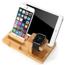 New Multi Wooden Charging Dock for Apple Watch Wood Bamboo Stand Mobile Holder