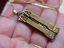 (M-313-C) 3-D EMMONS D10 PEDAL STEEL 10 string Guitar pendant NECKLACE JEWELRY