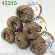 Sale New 6ballsx50g Soft Worsted Cotton Chunky Bulky Hand Knitting Quick Yarn 13