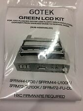 Gotek GREEN LCD Mod kit for Gotek USB HXC floppy emulator . Basic Soldering. S/A