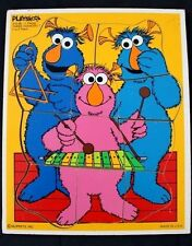 PLAYSCHOOL WOODEN TRAY PUZZLE SESAME STREET THREE HONKERS MUPPETS