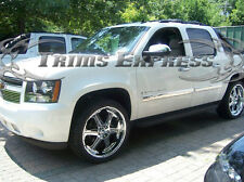 2007- 2008.5 Chevy Suburban/Avalanche 4Pc Chrome Body Side Molding Overlay 3.5""