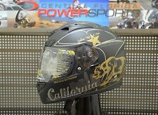 SCORPION EXO-R710 Golden State Full Face Motorcycle Helmet Black/Gold Size 2XL