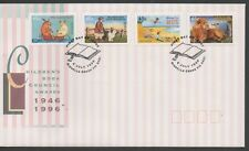 Australia 1996 FDC Childrens Book Council self adhesive fine used set stamps