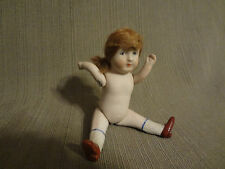 Antique Original Nippon Jointed Bisque Doll with Hair 5 inches 1891-1921