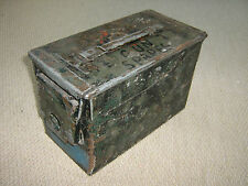 Ammunition  Box Steel Storage Tin Ammo Tin Ex Army Storage Tin H83 mk2