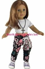 Hip Hop Dance Set Top,Pant,Necklace Doll Clothes For 18 in American Girl Doll