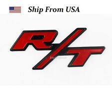 R/T RT Grill Trunk Metal Emblem Badge w/ Sticker for Dodge Challenger Charger