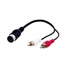 Goobay Adapter Stecker 5 pol. DIN-Kupplung   2 x Cinchstecker