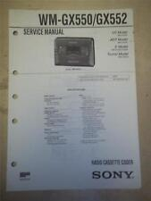 Sony Service Manual~WM-GX550/GX552 Walkman Radio Cassette-Corder~Original~Repair