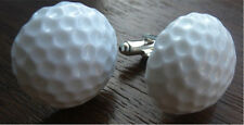 GORGEOUS HANDMADE GOLFBALL CUFFLINKS + FREE GIFT BAG